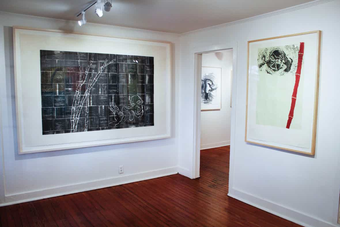 Gallery view of framed prints Listening Bamboo and Red Bamboo by Susan Rothenberg.